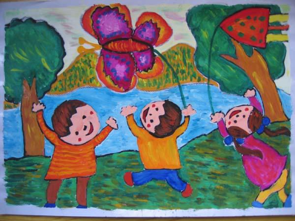 义卖海报手绘图片儿童